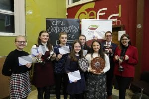 Success for Pontsian at Ceredigion YFC's English Public Speaking